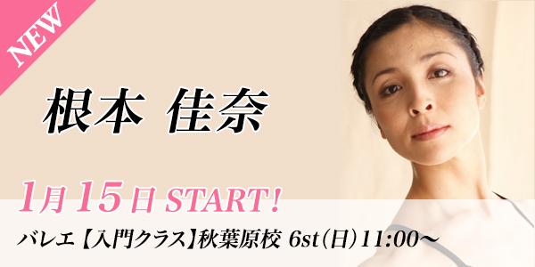 【1/15スタート】根本佳奈先生のバレエ入門クラスが秋葉原校(日)11:00〜より始まります。